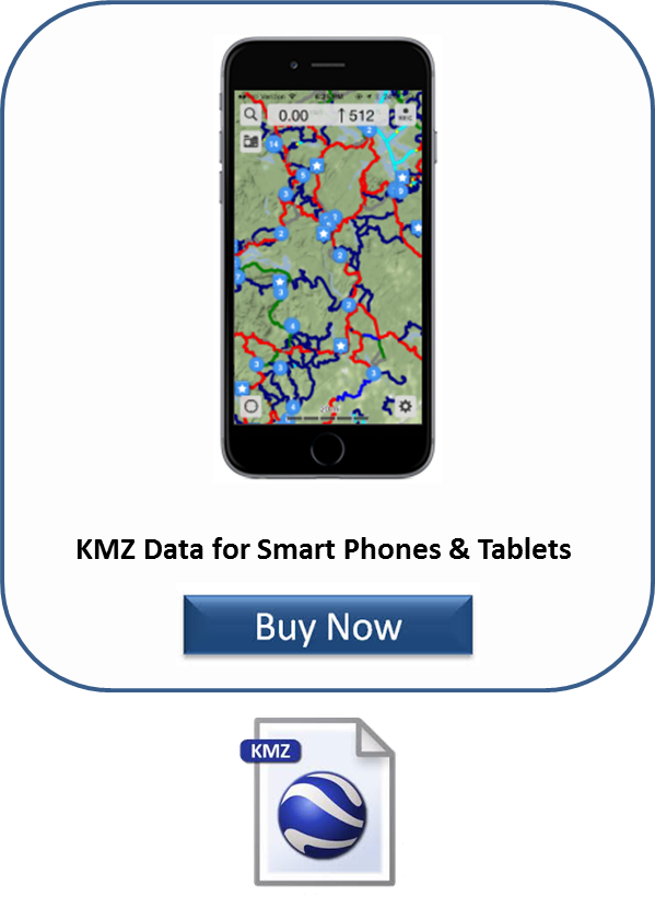GPS trail data in KMZ format